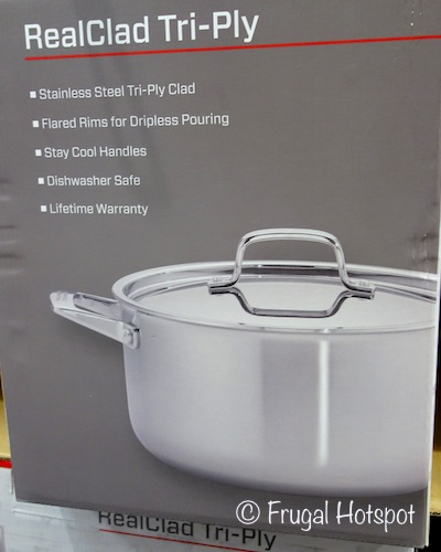 Description of J.A. Henckels International 10-Piece RealClad Tri-Ply Stainless Steel Cookware at Costco