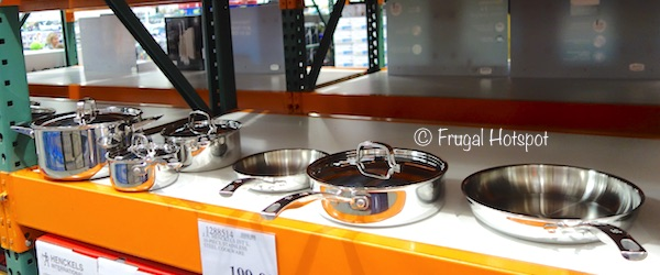 Costco Display of J.A. Henckels International 10-Piece RealClad Tri-Ply Stainless Steel Cookware