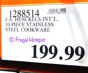 Costco Price: J.A. Henckels International 10-Piece RealClad Tri-Ply Stainless Steel Cookware