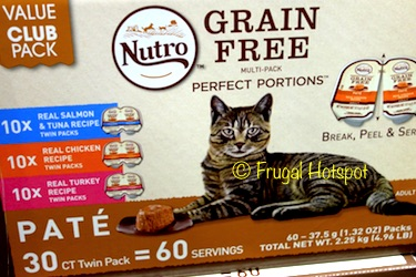 Nutro Cat Grain Free Perfect Portions 30 ct at Costco