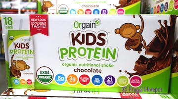 Orgain Organic Kids Chocolate Protein Shakes 18/8.25 oz at Costco