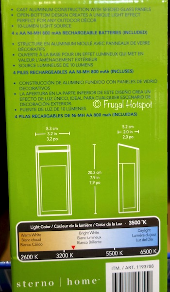 Paradise Solar LED Post Accent Light 4-Pack Costco