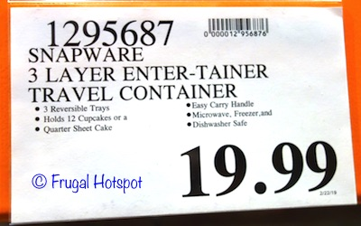 Costco Price: Snapware Enter-Tainers Portable Food Carrier 7-Piece Set