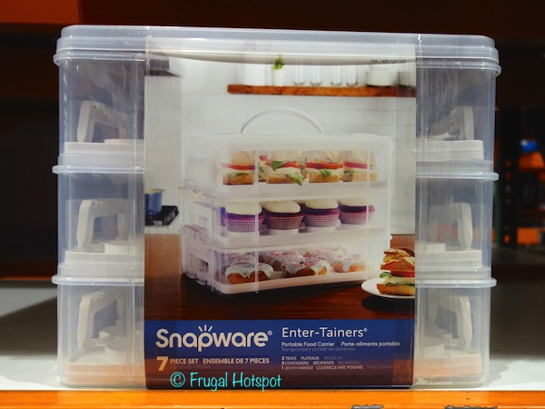 Snapware Enter-Tainers Portable Food Carrier 7-Piece Set at Costco
