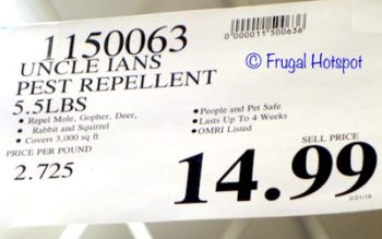 Costco Price: Uncle Ian's Pest Repellent 5.5 lbs