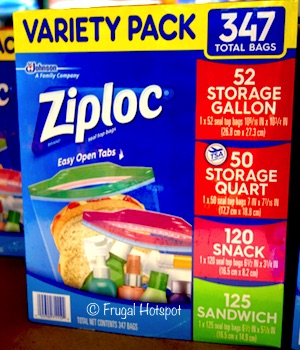 Ziploc Storage Bag Variety Pack 347 ct (Item #868821) at Costco