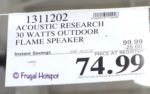 Acoustic Research Portable Flame Speaker Costco Sale Price