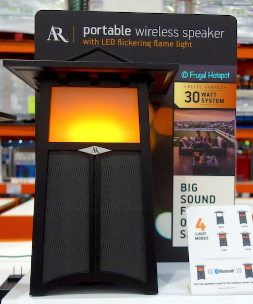 Acoustic Research Portable Wireless Speaker with LED Flickering Flame Light at Costco