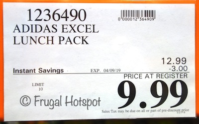 Costco Sale Price: Adidas Excel Insulated Lunch Pack