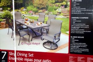 Agio Campbell 7-Piece Sling Dining Set at Costco