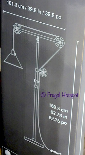 Bridgeport Designs Pulley Floor Lamp Dimensions | Costco