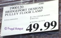 Costco Price: Bridgeport Designs Pulley Floor Lamp