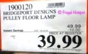 Bridgeport Designs Pulley Floor Lamp Costco Sale Price