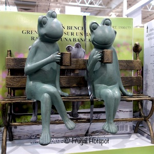 Frogs on Bench at Costco
