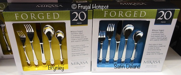 Mikasa Forged Stainless Steel Flatware Set 20-Piece Brynley and Stain Delano at Costco