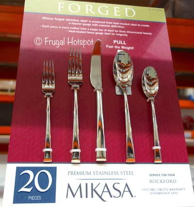 Mikasa Forged Stainless Steel Flatware Set 20-Piece Rockford at Costco
