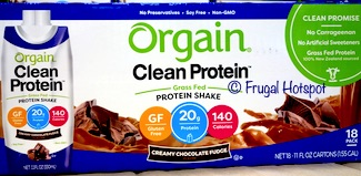 Orgain Clean Protein Chocolate Shake 18/11 oz at Costco