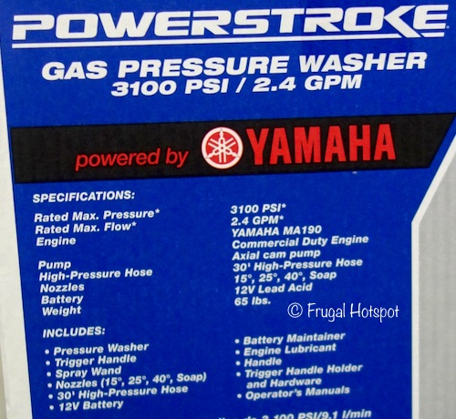 Powerstroke Gas Pressure Washer 3100 PSI at Costco
