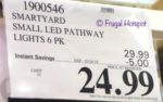 Costco Sale Price: SmartYard Small LED Pathway Lights 6-Pack