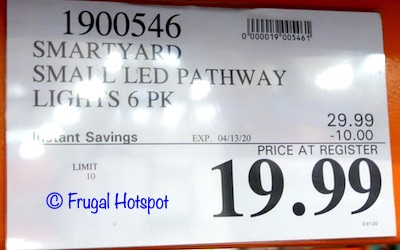 SmartYard Small LED Pathway Lights Costco Sale Price