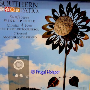 Southern Patio Sunflower Steel Wind Spinner at Costco