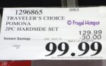 Costco Sale Price: Traveler's Choice Pomona Hardside Spinner Luggage 2-Piece Set