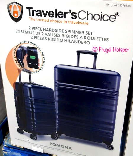 Traveler's Choice Pomona Hardside Spinner Luggage 2-Piece Set at Costco