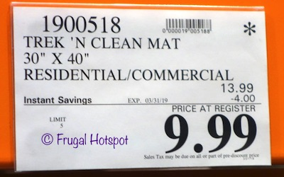 Costco Sale Price: Trek N' Clean Super Absorbent Floor Mat