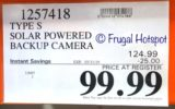 Costco Sale Price: Type S Solar Powered License Plate Frame Backup Camera