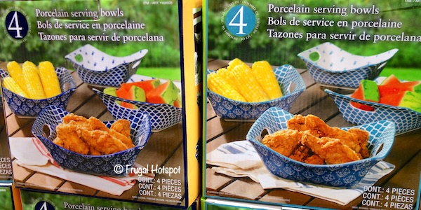 Certified Porcelain Square Serving Bowls 4-Piece at Costco