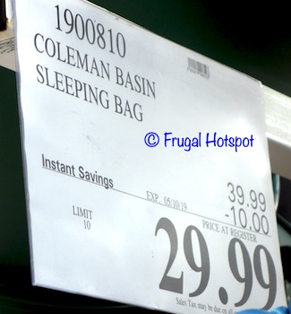 Costco Sale Price: Coleman 30°F Hybrid Sleeping Bag