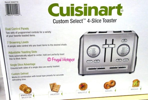 Cuisinart Custom Select 4-Slice Toaster Costco
