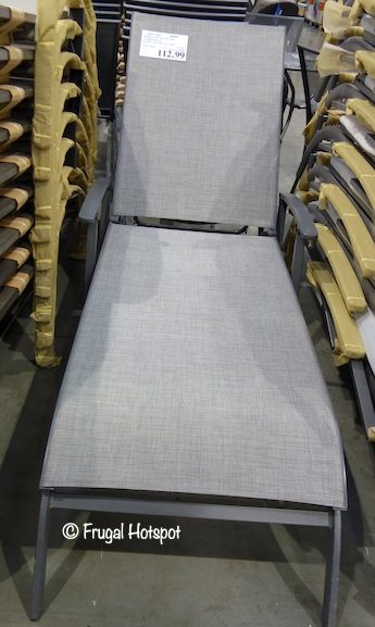 Costco Sale: Kirkland Signature Commercial Sling Chaise Lounge $112.99