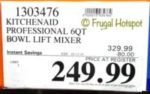 Costco Sale Price: KitchenAid Professional 6-Quart Bowl Lift Mixer
