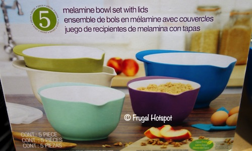 Pandex 5-Piece Melamine Mixing Bowls with Lids at Costco