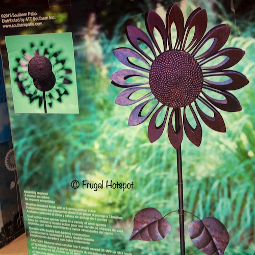 Costco Sale: Southern Patio Sunflower Wind Spinner $29.99