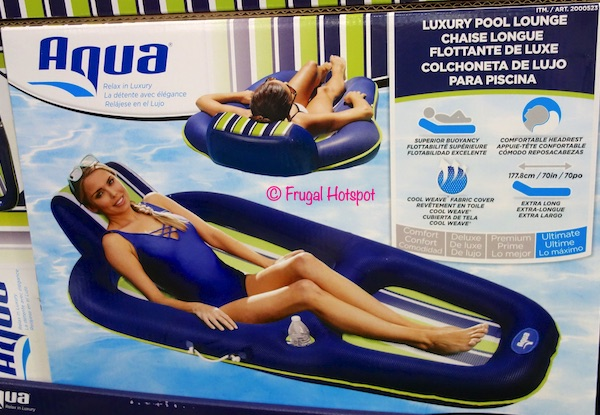 Costco Sale: Aqua Luxury Pool Lounge $23.99