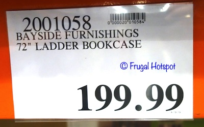Bayside Furnishings 72 Ladder Bookcase by Whalen Costco price