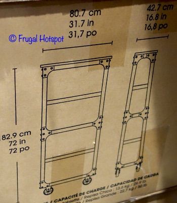"""Bayside Furnishings 72"""" Ladder Bookcase by Whalen Dimensions at Costco"""