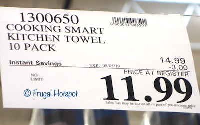 Costco Sale Price: The Chef's Pantry Kitchen Towels 10-Pack