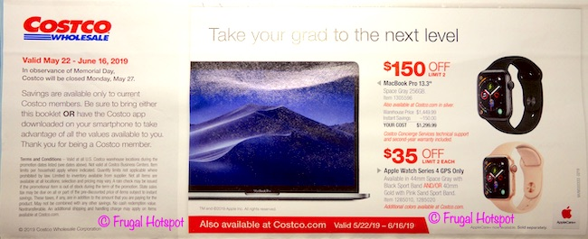 Costco Coupon Book: May 22, 2019 - June 16, 2019. Page 1