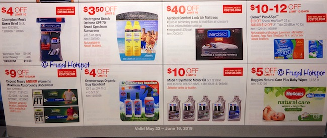 Costco Coupon Book: May 22, 2019 - June 16, 2019. Page 14