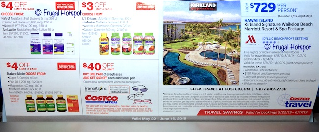 Costco Coupon Book: May 22, 2019 - June 16, 2019. Page 22