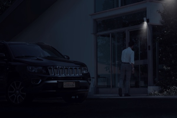 Koda Motion-Activated Light with Camera at Night