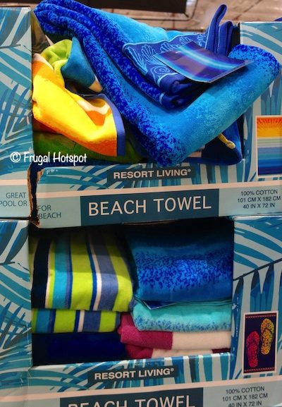 Costco Sale: Resort Living Jacquard Beach Towel $7.99