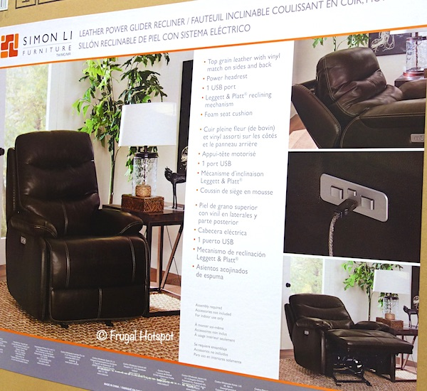 Simon Li Leather Power Glider Recliner Costco