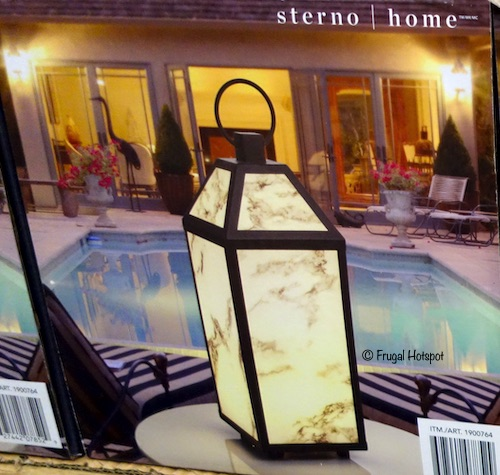 Sterno Home LED Lantern with Marble Finish at Costco