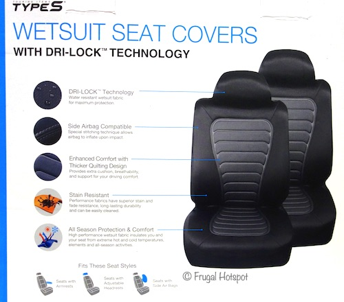 Type S Wetsuit Seat Covers 2-Pack Costco