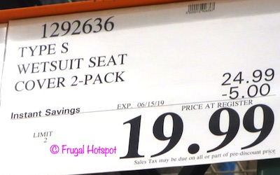 Type S Wetsuit Seat Covers 2-Pack Costco Sale Price