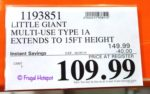 Little Giant Multi-Use Ladder Costco Sale Price